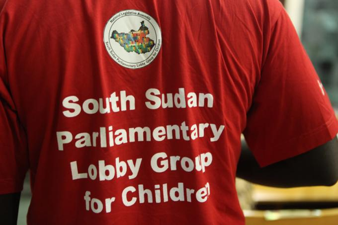 A participant at the National Children's Parliament organised by Save the Children in the capital of South Sudan, Juba. (Jenn Warren/Save the Children)