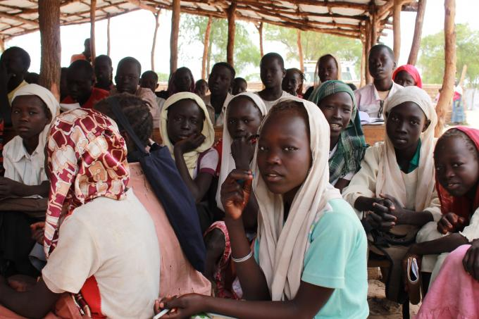 Students in class at Nur Primary school set up by Save the Children in Doro refugee camp, Maban, South Sudan. (Helen Mould/Save the Children)