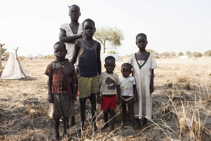 Akuol and her siblings in Awerial. Photo Mackenzie Knowles-Courson/Save the Children