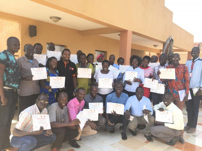 Participants at the second training for health cadres on the clinical management of sexual violence in Juba