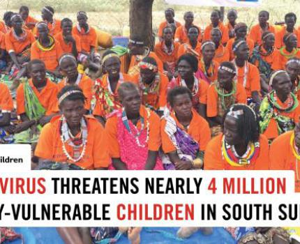 Coronavirus threatens nearly 4 million already-vulnerable children in South Sudan