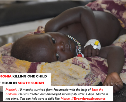 Pneumonia is killing one child every hour in South Sudan
