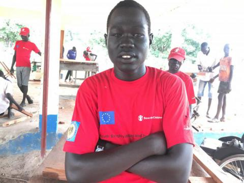 Gaak at Save the Children TVET centre in Rumbek/Tito Justin/SC