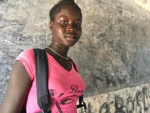 Abuk*, 15, fled to Lankien over the threat of forced marriage to continue with her education